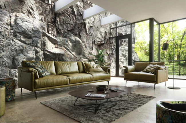 Living room with green Tommy m sofa