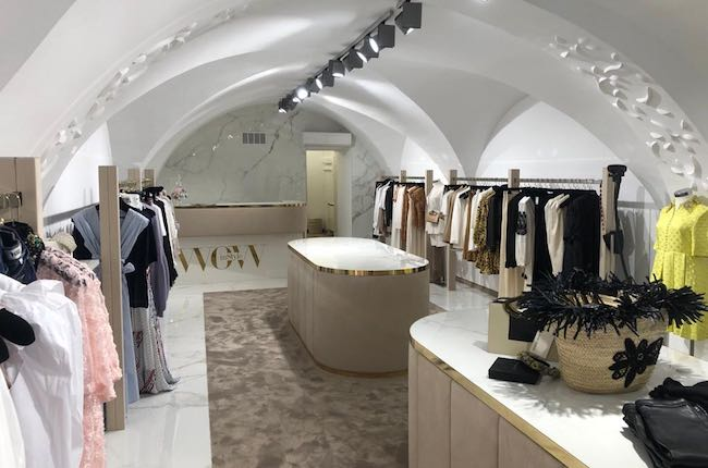 Luxury Boutige white marble and gold details